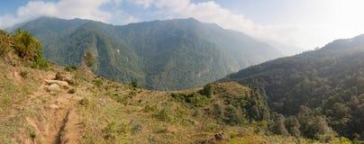 Рис fields на треке базового лагеря Annapurna, Непале Стоковое Фото