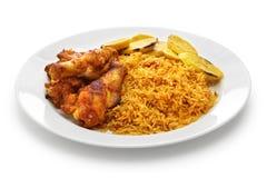 Рис Jollof, западно-африканская кухня Стоковое Фото