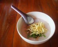 Рис, mush, тайский, еда в moring Стоковое фото RF