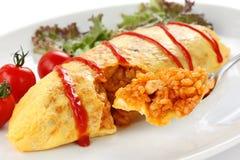рис omurice омлета еды японский стоковые фотографии rf