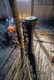 Ритуальный барабанчик племени Asmat Стоковые Изображения RF