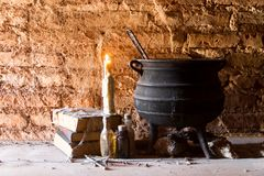 Ритуал ` ведьм и день умерших стоковая фотография
