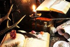 Ритуал черной магии стоковое фото