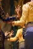 Ритуальные положения руки танцоров apsara Стоковое Изображение RF