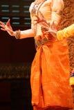 Ритуальные положения руки танцоров apsara Стоковое фото RF