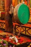 Ритуальный барабанчик в монастыре Hemis. Ladakh, Индия Стоковое Фото