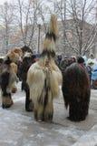 Ритуал Kukeri традиционный болгарский Стоковое фото RF