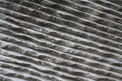 Рифленный белый мрамор Стоковое Фото
