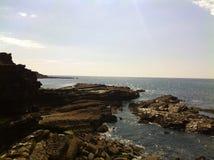 Риф скалы бортовой Стоковые Изображения