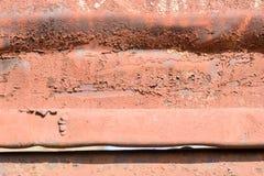 Рифлёная картина ржавчины Стоковые Изображения RF