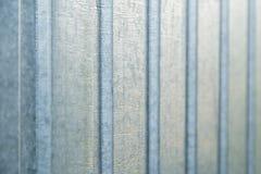Рифлёная текстура предпосылки стены металлического листа Стоковая Фотография RF