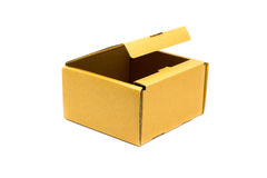 Рифлёные картонные коробки на белизне Стоковые Фотографии RF
