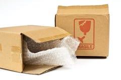 Рифлёные коробки Стоковое Изображение