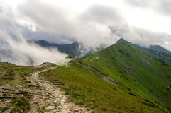 Ридж в облаках tatra гор западное Стоковое Изображение