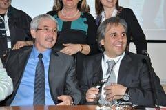 Роберто Chierchia и Giovanni Faverin, генеральный секретарь CISL FP Рима Стоковая Фотография RF