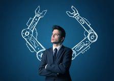 Робототехническая концепция оружий Стоковое Изображение