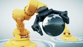 Робототехническая рука иллюстрация вектора