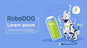 Робототехническая собака с полной технологией искусственного интеллекта любимчика робота домашнего животного обязанности батареи  Стоковые Изображения RF