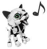 Робототехнический котенок, голос Стоковая Фотография