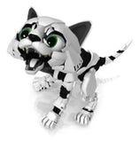 Робототехнический котенок, шипение Стоковое Изображение RF