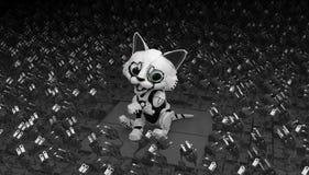 Робототехнический котенок, электрический Стоковая Фотография RF