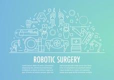 Робототехническое знамя хирургии Стоковые Изображения RF