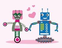 Роботы в влюбленности Стоковая Фотография