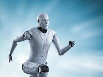 Робот бежать или скача иллюстрация вектора