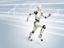 Робот бежать на высокой скорости Стоковое Изображение RF
