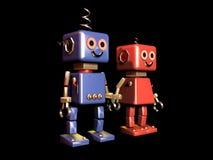 робот влюбленности предпосылки изолированный чернотой Стоковое Изображение RF