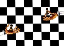 Робот вручает шахмат игры Стоковое Изображение