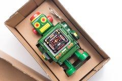 Робот в коробке Стоковое фото RF