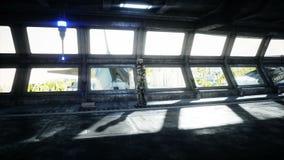 Робот в tonnel Sci fi Концепция будущего Реалистическая анимация 4K бесплатная иллюстрация
