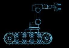 Робот группа по обнаружению и обезвреживанию взрывных устройств Стоковая Фотография RF