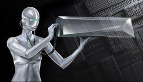 робот девушки Стоковые Изображения
