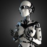 Робот женщины стали и белой пластмассы Стоковые Фото