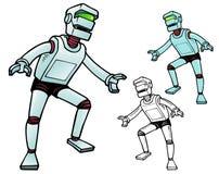 Робот за пятьдесят действия Стоковая Фотография RF