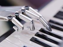 Робот играет иллюстрацию концепции 3d искусственного интеллекта рояля иллюстрация штока