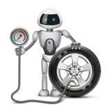 Робот измеряет давление иллюстрация вектора