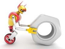 Робот и гайка Стоковое Изображение
