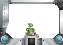 Робот и металлическая рамка иллюстрация штока