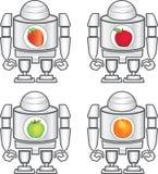 Робот и плодоовощи Стоковые Изображения RF