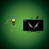 Робот и ТВ Стоковые Изображения RF
