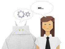 Робот и человеческий диалог Стоковая Фотография RF