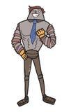 Робот мужчины шаржа Стоковое Фото