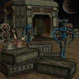 Робот Мультяшки Стоковая Фотография RF