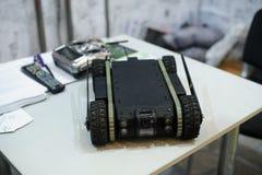 Робот наземных разведок развитый украинскими дизайнерами Стоковое Изображение RF