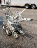 Робот обезвреживания неразорвавшихся бомб Стоковые Фото
