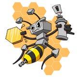 робот пчелы Стоковые Фото