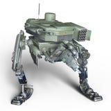 Робот сражения иллюстрация вектора